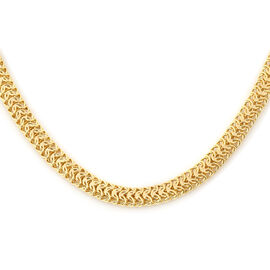 Italian Made - 9K Yellow Gold Fancy Collegamento Necklace (Size 20), Gold Wt. 18.77 Gms