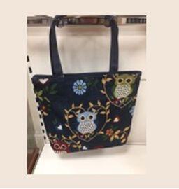 Thomas Calvi Navy and Multi Colour Owl Shopping Bag (Size 40x9x34 Cm)