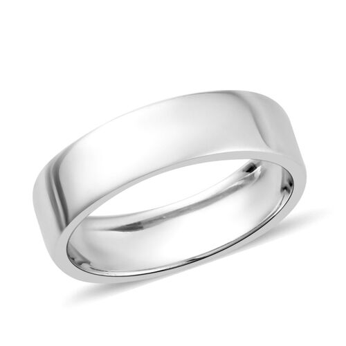 Platinum Overlay Sterling Silver Band Ring, Silver wt. 3.00 Gms