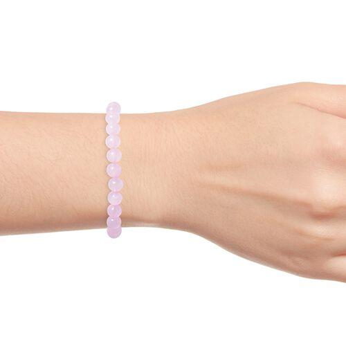 MP Rose Quartz Beads Stretchable Bracelet (Size 7.5) 90.50 Ct.