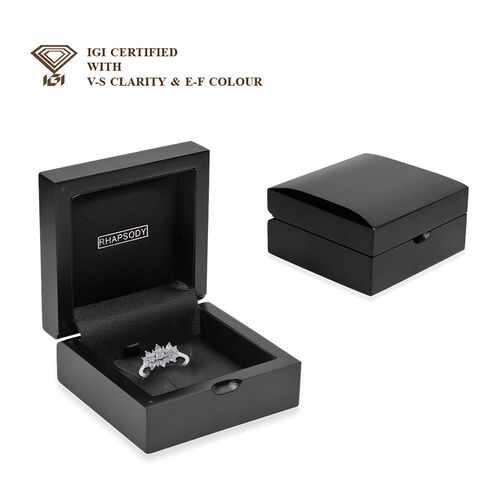 9K W Gold SGL Certified Diamond (I3/G-H) Cluster Boat Ring 1.000 Ct.
