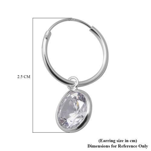 ELANZA - AAA Set of 2 Simulated Diamond Hoop Earrings in Sterling Silver