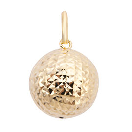 Close Out Buy- 9K Yellow Gold Diamond Cut Ball Pendant