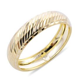 Royal Bali Collection Diamond Cut Band Ring in 9K Yellow Gold