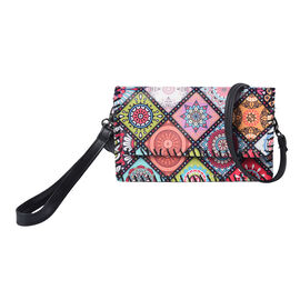 Muti Colour Square Pattern Crossbody Bag with Adjustable Strap (Size 21x2x12cm)