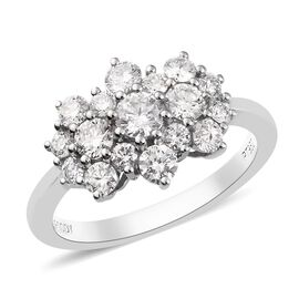 RHAPSODY 1 Carat Diamond Cluster Ring in 950 Platinum 4.40 Grams IGI Certified VS EF