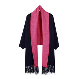 Kris Ana Wrap with Tassels (Size One, 8-18) - Navy and Fuschia