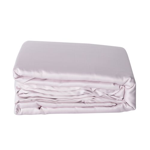 Luxury Sateen - Single Size Set of 3 - Dusky Rose Matt Sateen Flat Sheet (265x180 Cm), Fitted Sheet (190x90x30 Cm) and Pillow Case (75x50 Cm)