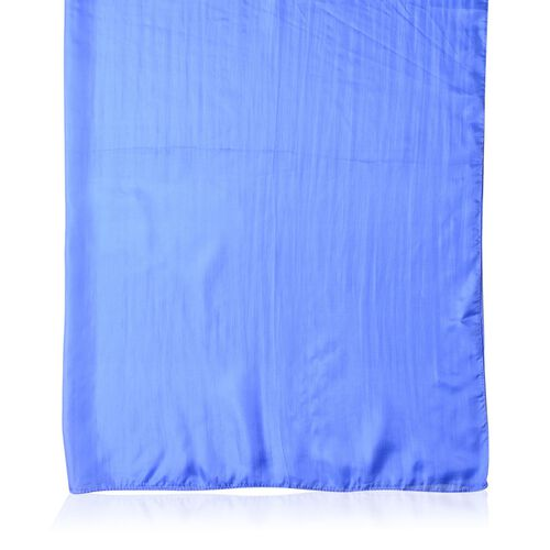 100% Mulberry Silk Blue Colour Scarf (Size 180X100 Cm)