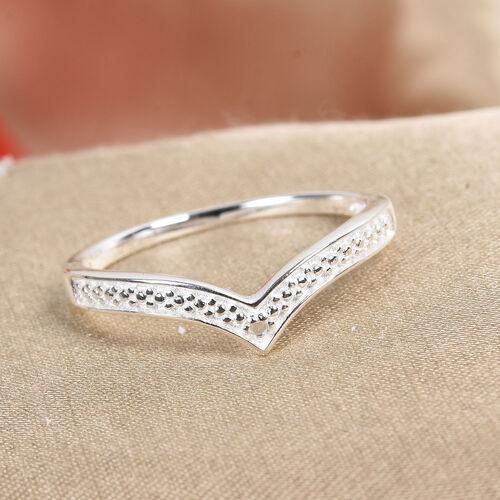 Diamond Wishbone Ring in Sterling Silver