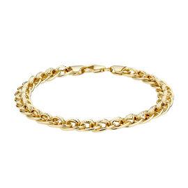 9K Yellow Gold Fancy Rollerball Bracelet (Size 7.5), Gold Wt. 6.00 Gms