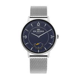 Ben Sherman Matte Navy Dial Watch with Silver Mesh Strap, 40mm