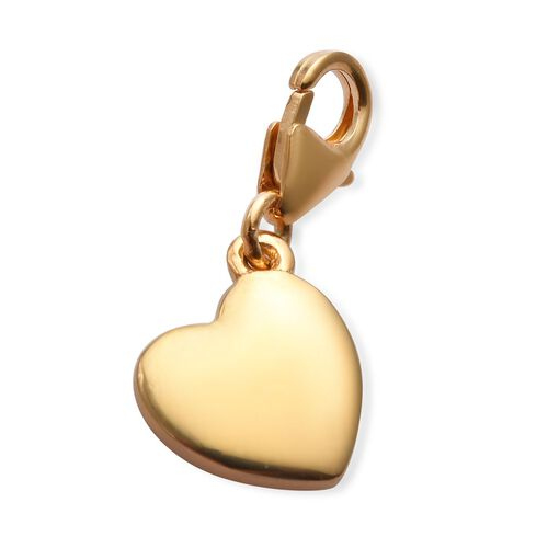 14K Gold Overlay Sterling Silver Daughter Heart Charm