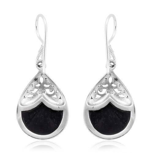 Royal Bali Collection Abalone Shell Drop Hook Earrings in Sterling Silver