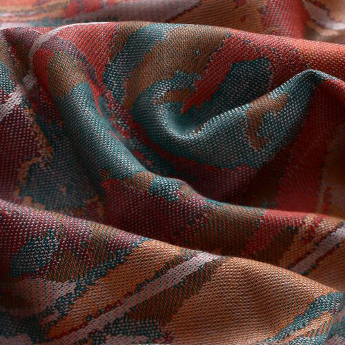 100% Superfine Silk Multi Colour Jacquard Jamawar Shawl with Fringes (Size 175x70 Cm) (Weight 125-140 Grams)
