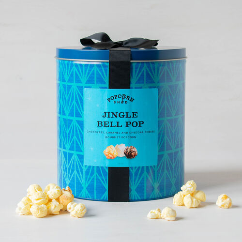 POPCORN SHED Jingle Bell Pop Gift Tin 380g