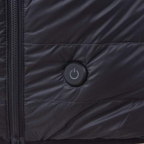 DOD - Japanese Heating Wire Puffer Down Feather Jacket with 3 Heat Setting (Size L) - Black