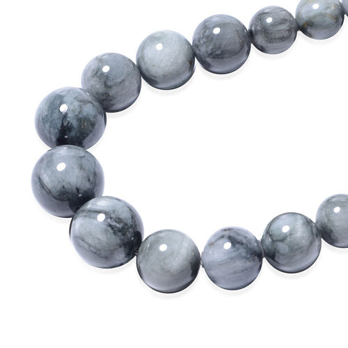 Eagle Eye Jasper Beads Necklace (Size 20) with Magnetic Lock in Rhodium Overlay Sterling Silver 407.50 Ct
