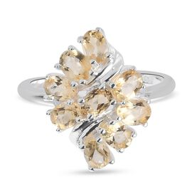 Citrine Ring in Sterling Silver 1.150 Ct.