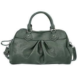 Super Soft  Tote Handbag with Detachable Shoulder Strap and Zipper Closure (Size 39.5x13x23cm) - Dar