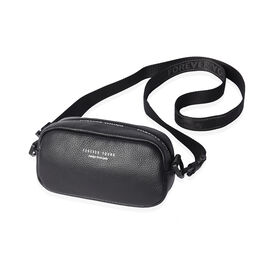 CLOSE OUT DEAL 100% Genuine Leather Crossbody Bag with Zipper Closure and Shoulder Strap (Size 19x7x