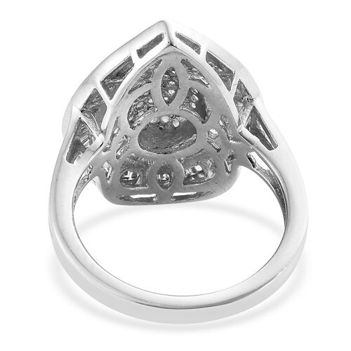 Diamond (Bgt) Ring in Platinum Overlay Sterling Silver 1.000  Ct, Number of Diamonds 174.