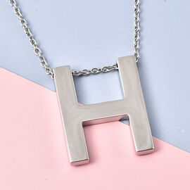 Initial H Necklace (Size - 20) in Stainless Steel