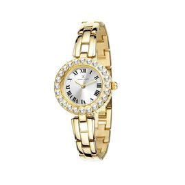 Close Out Deal- DANIEL KLEIN Crystal Studded Analog Gold Dial Watch