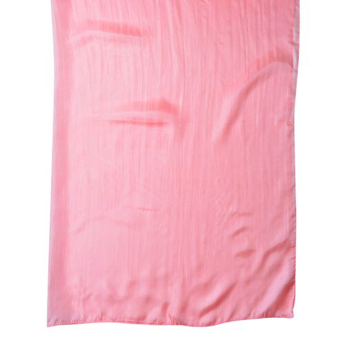 100% Mulberry Silk Light Pink Colour Scarf (Size 180X100 Cm)