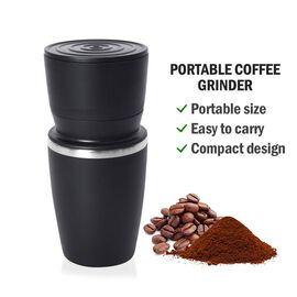 Portable Coffee Grinder (Size 8.6x18.6 cm) - Black