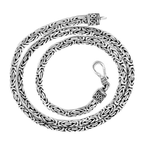 Royal Bali Collection Sterling Silver Borobudur Necklace (Size 18), Silver wt 29.00 Gms.