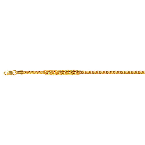 Vicenza Collection 9K Yellow Gold Spiga Necklace (Size 50 inch), Gold wt 13.37 Gms.