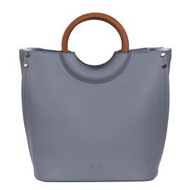 Inyati Viviana Ring Grab Handle Tapered Bag (Size 26x30x16 Cm) - Mid Grey