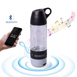 Water Bottle with Wireless Bluetooth Speaker in Black (Capacity 400ml)