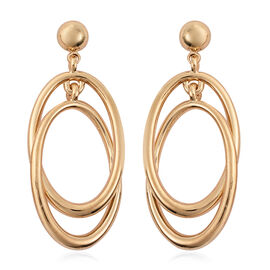Dangle Earrings (with Push Back) in Yellow Gold Tone