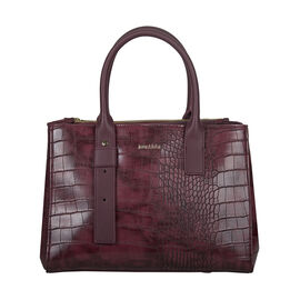 Bulaggi Collection Iris Croco Shopper Bag - Burgundy