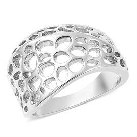 RACHEL GALLEY Enkai Collection- Lattice Collection - Rhodium Overlay Sterling Silver Ring