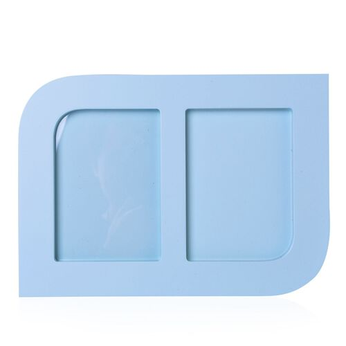 Baby Handprint and Footprint Keepsake Photo Frame Kit in Light Blue Colour (Size 24.8X17.8X1.2 Cm)