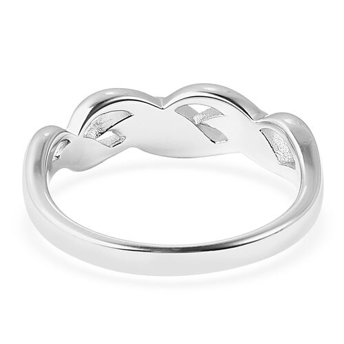 RACHEL GALLEY Two Tone Plated Sterling Silver Leaf Band Ring