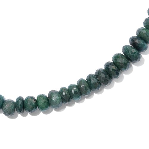 Emerald Green Corundum Necklace (Size 20) in Platinum Overlay Sterling Silver 289.000 Ct.