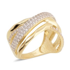 JCK Vegas Crisscross Ring in 9K Gold 3.53 grams
