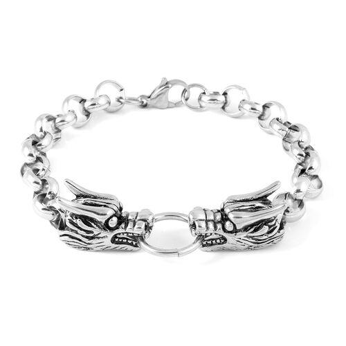 Stainless Steel Dragon Head Bracelet (Size 9)