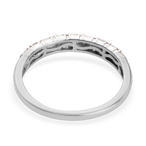 Diamond Band Ring in Platinum Overlay Sterling Silver 0.25 Ct.