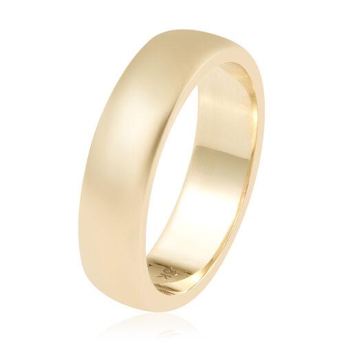 9K Yellow Gold Band Ring