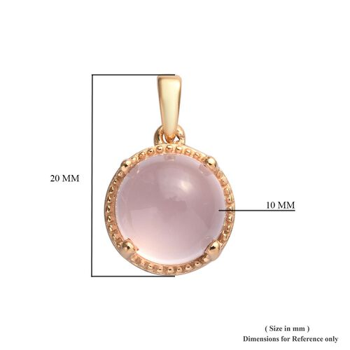 Rose Quartz Pendant in 14K Gold Overlay Sterling Silver 4.80 Ct.
