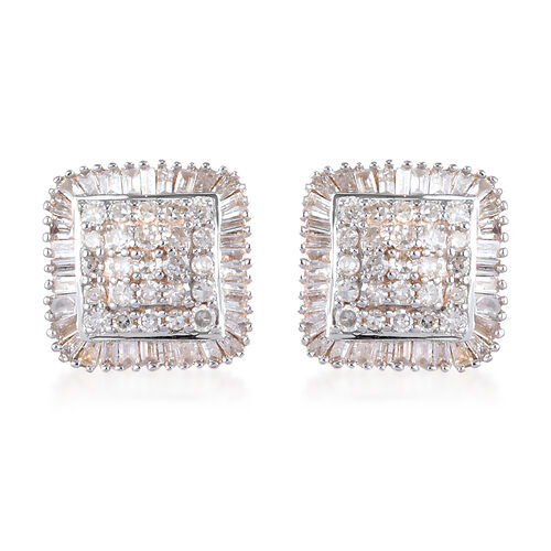 9K Yellow Gold SGL Certified Diamond (I3/G-H) Stud Earrings (with Push Back) 0.75 Ct.