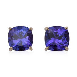 ILIANA 2.09 Ct AAA Tanzanite Stud Solitaire Earrings in 18K Yellow Gold
