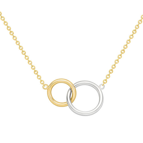 9K Yellow and White Gold Chain (Size 17 with 1 inch Extender), Gold wt 2.10 Gms