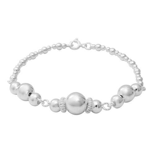 Beaded Bracelet in Sterling Silver 10.06 Grams 7.5 Inch