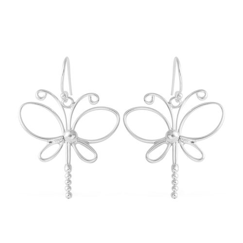Sterling Silver Butterfly Hook Earrings. Silver wt. 5.50 Gms.